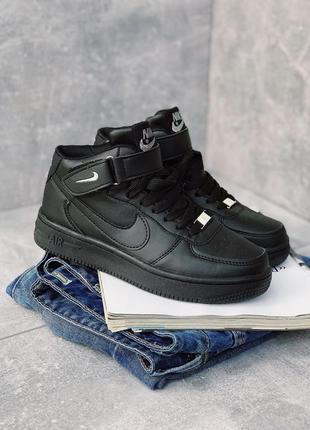 Nike air force classic hight black женские кроссовки черного ц...