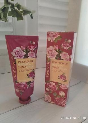 Парфюмированный крем для рук с розой farmstay pink flower...