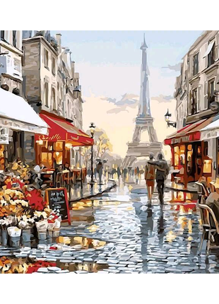 Картина по номерам Париж после дождя. Худ. Ричард Макнейл