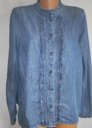 Джинсовая рубашка большого размера