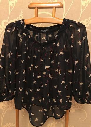 Очень красивая и стильная брендовая блузка в котиках.