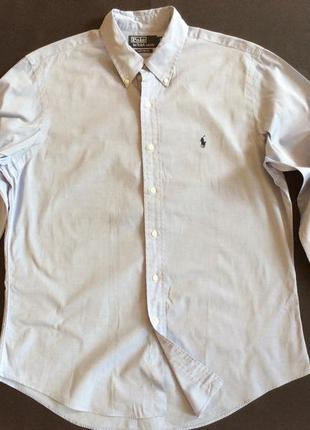 Мужская рубашка polo ralph lauren р ворот 42 (16 1/2) l