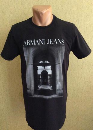Мужская футболка armani jeans оригинал размер xl(m-l)