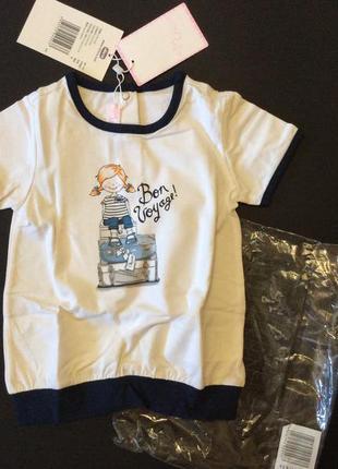 Новая детская футболка chicco рост 86-92