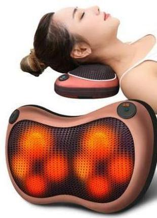Массажер с подогревом для спины и шеи массажная подушка Massag...