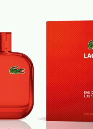 Мужская туалетная вода Lacoste L.12.12. Red for men
