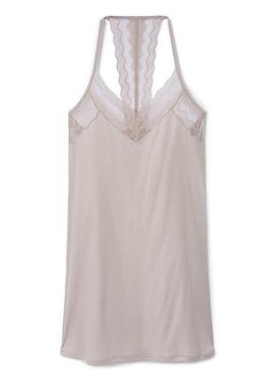 Ночнушка/платье для дома с кружевной спинкой calida из тансела...