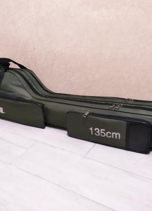 Чехол полужесткий для рыболовных удилищ спиннингов Feima 135 см