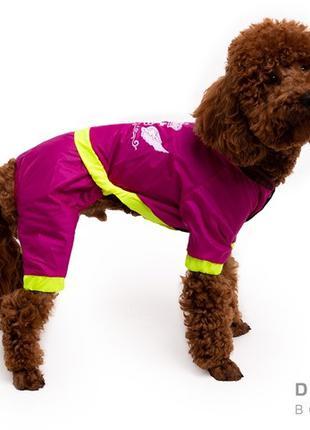 Одежда для собак дождевик малиновый