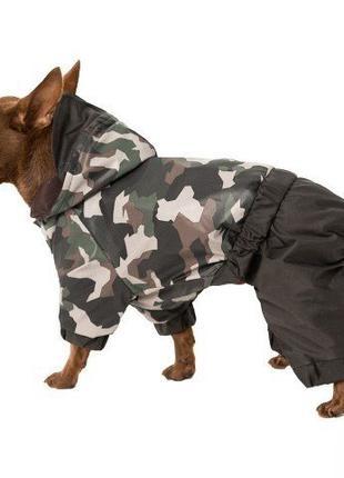 Одежда для собак дождевик камуфляж