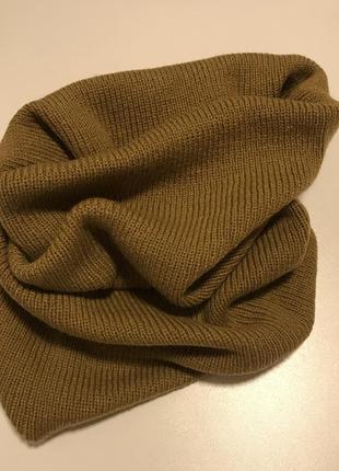 Новый объемный шарф снуд вязаный тренд