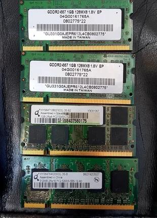 Оперативная память для ноутбука DDR2 pc5300s 1024Мб