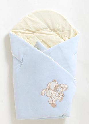 Конверт-одеяло для новонародженных на выписку №3 вилюр, тм Womar