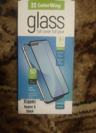 Новое стекло 5d на телефон Xiaomi redmi 8