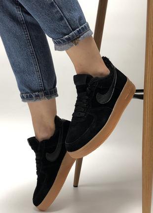 Зимние женские кроссовки на меху nike air