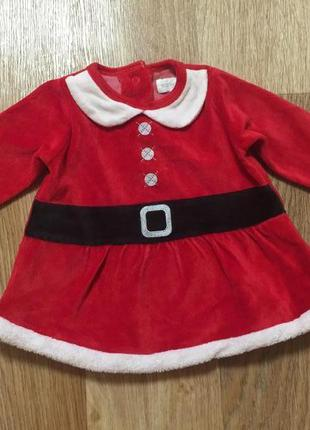Новогоднее бархатное платье/ новогодний костюм для девочки