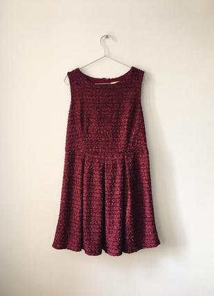 Идеальное платье на осень винного цвета maya бордовое платье б...