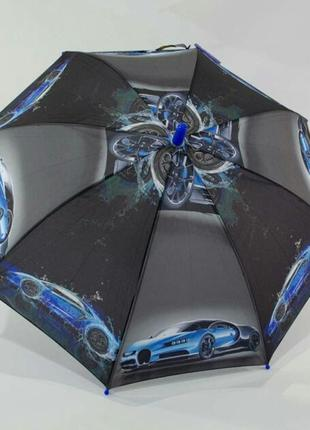 Зонт для мальчика супертачки суперкары 5-9 лет