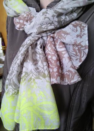 Завораживающий женский палантин passigatti/шарф большой стильн...