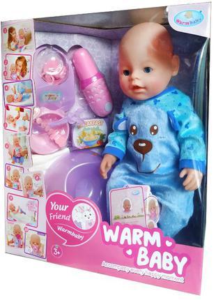 """Реборн функциональная кукла пупс Беби борн 40 см """"Warm baby"""""""