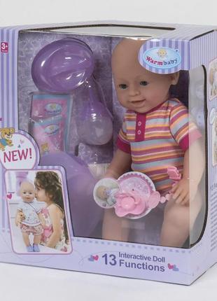 """Реборн функциональная кукла пупс Беби борн 42 см """"Warm baby"""" 1..."""