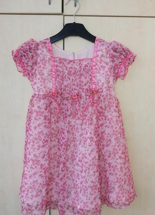 Платье розовый цветы