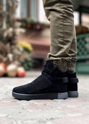 Adidas tubular invander замшевые зимние мужские кроссовки на м...