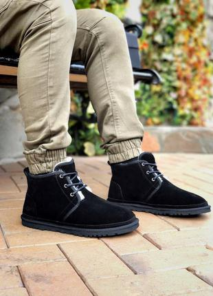 Ugg neumel brown мужские замшевые зимние угги/ сапоги/ ботинки...