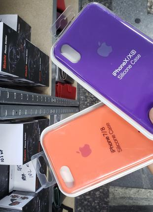 Чехол на iPhone 6, 7, 8, x, xs max silicon case for iphone