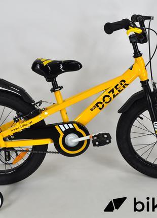 "Детский велосипед Royal Baby Bulldozer 18"" желтый"