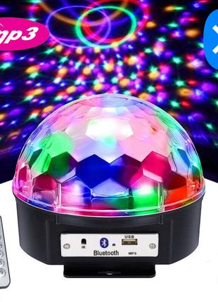 Диско шар светомузыка MP3 LED Magic Ball Light Bluetooth