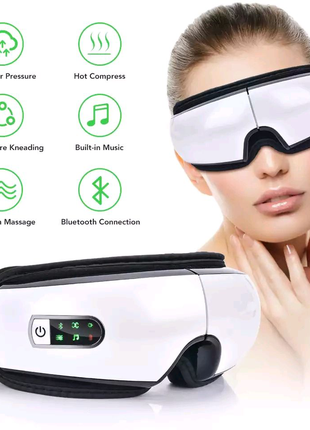Очки массажные со звукотерапией iSee Bluetooth Белый