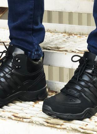 Зимние кроссовки мужские Adidas black