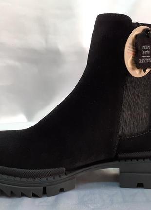 Распродажа!стильные замшевые ботинки-сапоги bertoni