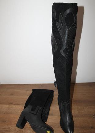 Кожаные ботфорты new look, 41 размер