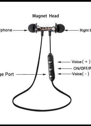 Беспроводные Bluetooth наушники для бега со встроенным микрофоном