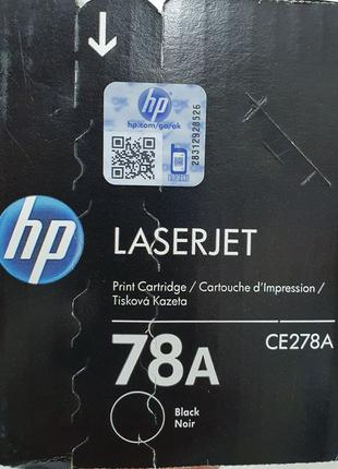 Картридж HP CE278A для принтера LJ P1566, P1606DN, M1536dnf