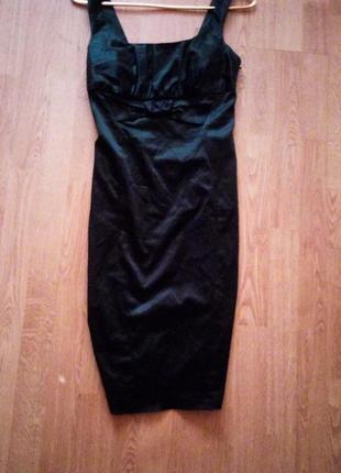 1+1=3 классическое платье карандаш или футляр чёрное фирменное...