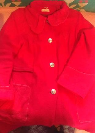 Пальто на пышные формы 56-58 размер