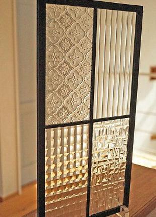 Стекло плавленное фьюзинг объемный, стекло с узорами, стекло 3D