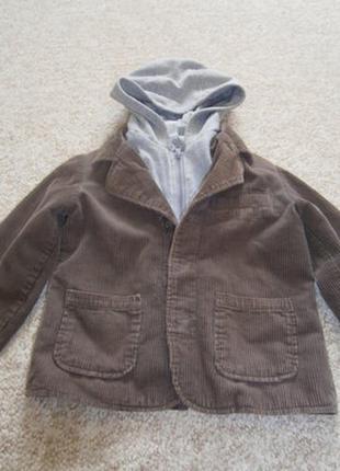 Вельветовый пиджак на мальчика
