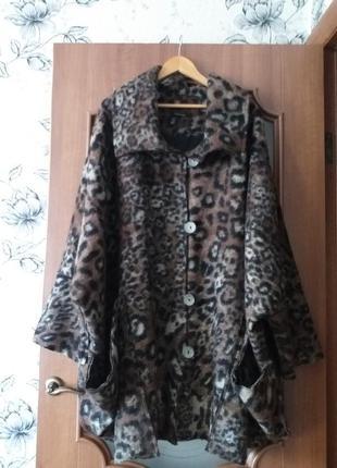 """Niederberger  дизайнерское, шерстяное пальто """"оверсайз"""", стиль..."""