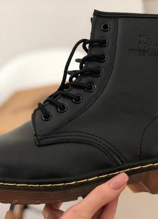 Ботинки dr. martens 1460 с мехом черные