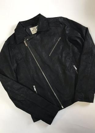 New! Кожаная косуха куртка Solid ( M ) hugo boss armani