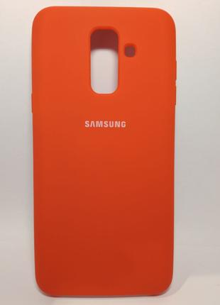 Задня накладка Samsung A6Plus/A605 Silicone Cover Red