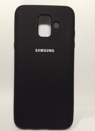 Задня накладка Samsung A600 Silicone Cover Black