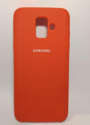 Задня накладка Samsung A600 Silicone Cover Red