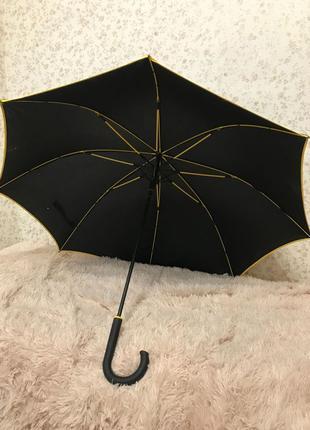 Черный зонт трость