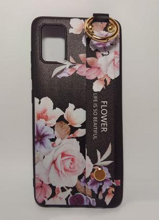 Задня накладка Samsung A51/A515 Flower Rope Case Black