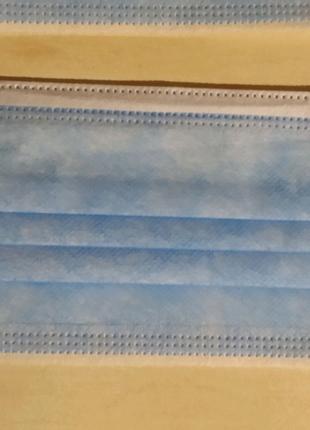 Маска медицинская трёхслойная одноразовая